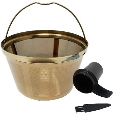 GoldTone Stainless Steel 8-12 Cup Basket Coffee Filter - Mr.