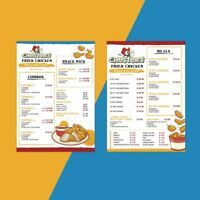 Menu and Poster Design