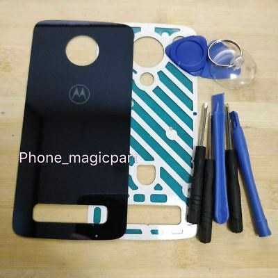 OEM Glass Battery Back Cover Door For Motorola Moto Z3 Play XT1929 Deep blue ()