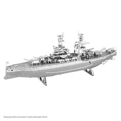 USS Arizona Schlachtschiff 3D-Metall-Bausatz Silver-Edition Metal Earth 1097