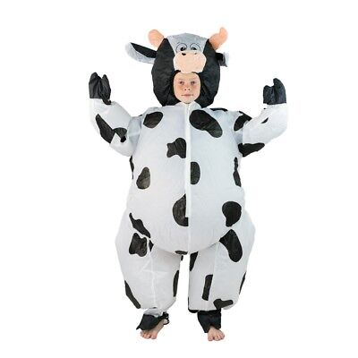 Kids Inflatable Cow Farm Yard Animal Funny Halloween Fancy Dress Costume
