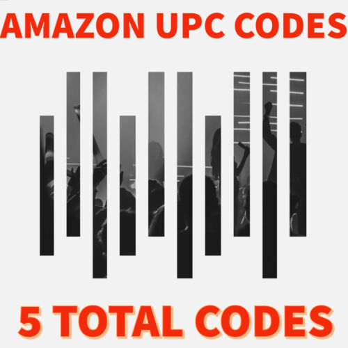 UPC Codes & Barcodes -  Amazon UPC Codes (5 codes)