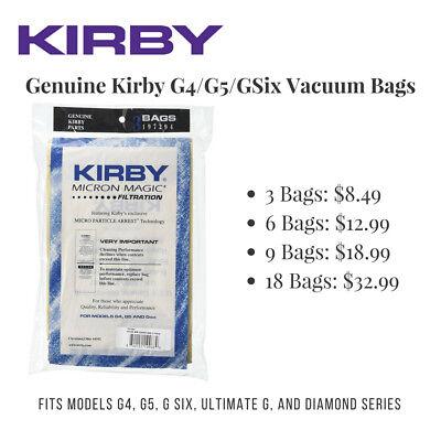 Kirby G4 / G5 Vacuum Bags (Genuine Kirby Brand) Fits All Kirby G Series Models
