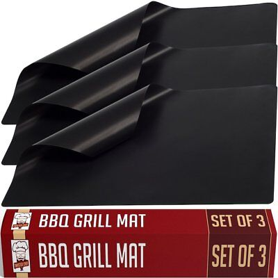 Twisted Chef BBQ Grill Mats Non Stick   Best For Charcoal and Gas Grills