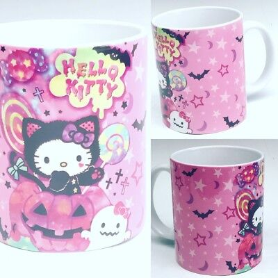 Hello Kitty cute sweet halloween mug 11 oz cup Original design US - Halloween Dessert Designs