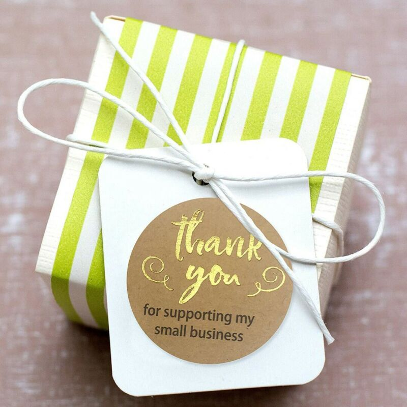 US 500Pcs Round Thank You For Supporting Food Label Stickers