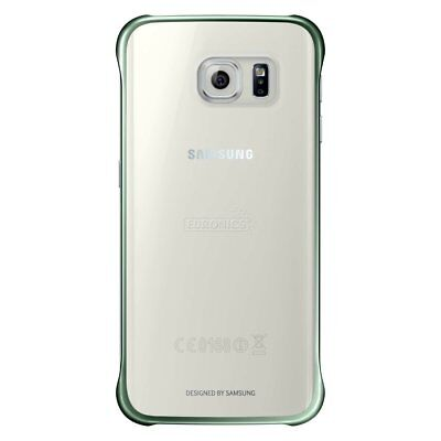Metallic Green/Clear Clip-On Case Fitted Cover for Samsung Galaxy S6 Edge G925F Clear Cover Clip