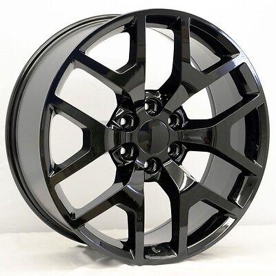 22  Gloss Black Gmc Sierra Honeycomb Style Wheels 22X9 Inch 6X139 7  31 Chevy