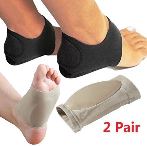4 Packs Arch Support Gel Orthotic Insole Plantar Fasciitis F