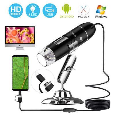 1600x Hd Electronic Digital Microscope Handheld Usb Magnifier For Win Xp7 Equip