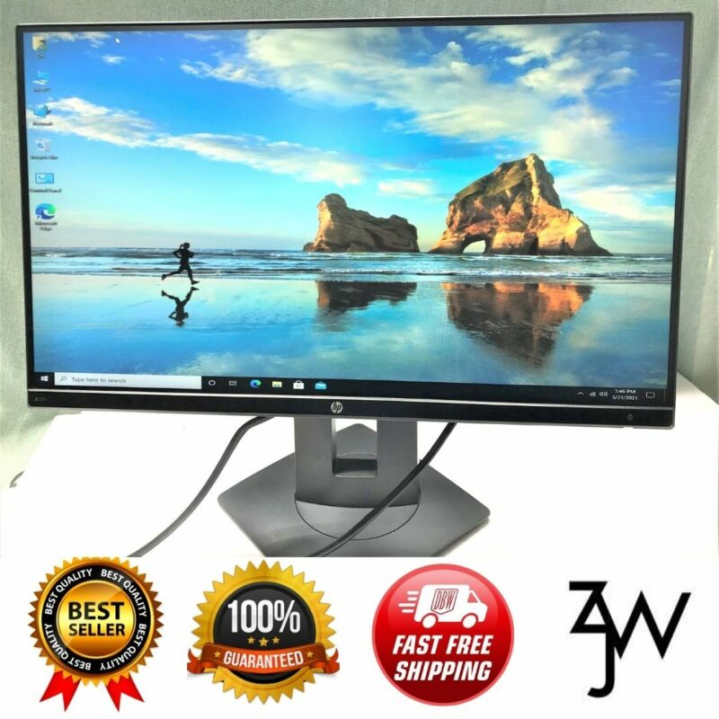 HP 22inch Edgeless IPS Displays Z22n LED Monitors W/Stand & Cables(Renewed)