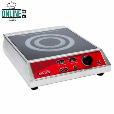 Countertop Induction Range Single Burner Commercial Restaurant Kitchen Nsf 1800w