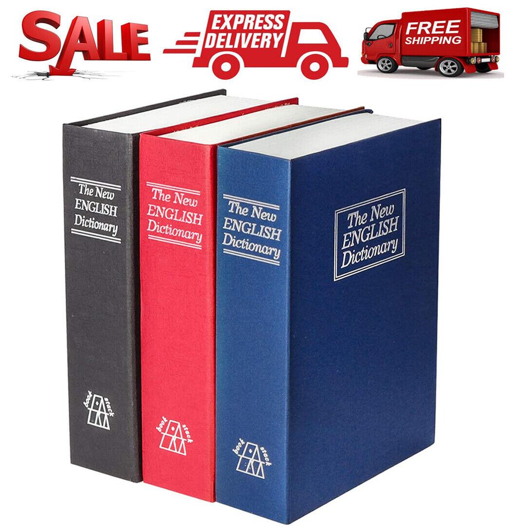 Book Safe Box Lock Vault Water Fire Proof Home Money Gun Cas