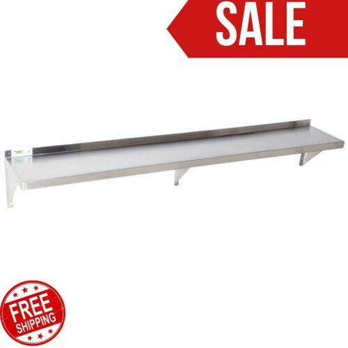 "12"" X 84"" Stainless Steel Wall Shelf | 340 lb. Capacity | 18 Gauge NSF Silver"