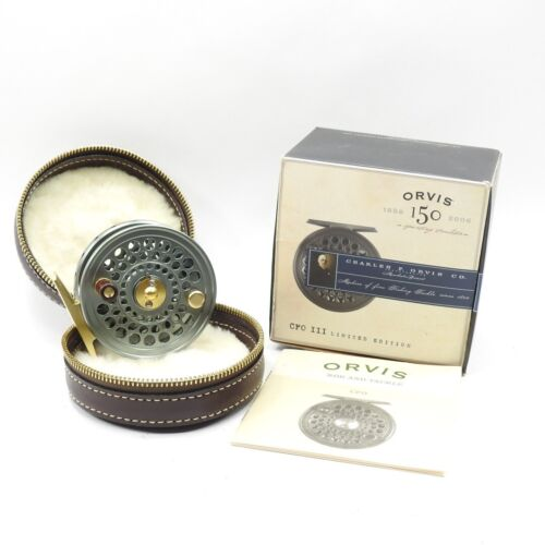 Orvis CFO III Disc 150th Anniversary Edition Fly Reel. W/ Box and Case.
