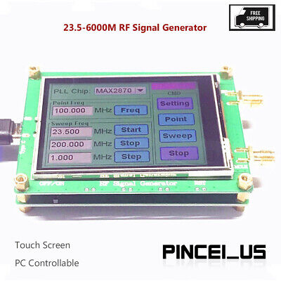 23.5-6000m Rf Signal Generator 0.5ppm Low Noise Frequency Sweep Touch Screen Pe6