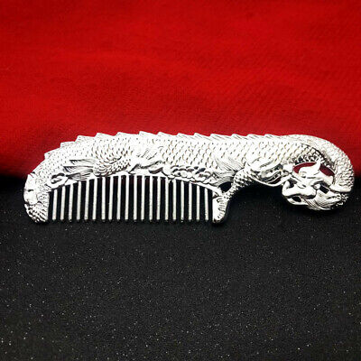 Silver /& White Copper Carving Dragon Comb Chinese Handmade Tibet