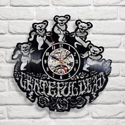 Grateful Dead Rock Music Handmade Art Vinyl Record Wall Clock Modern Gift Idea