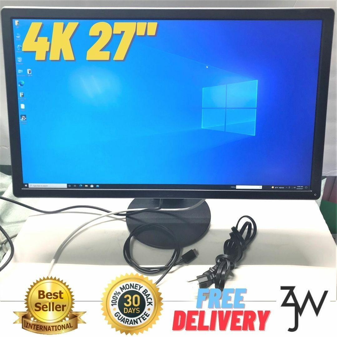 Dell 27inch 4K Monitor IPS 3480x2160 W/Stand +Power +FREE HD