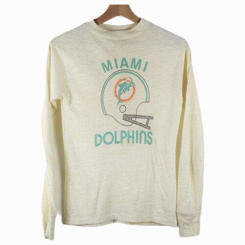 D15 Vintage 70s Allison Long Sleeve Shirt Miami Dolphins Kids Size Large 16-18