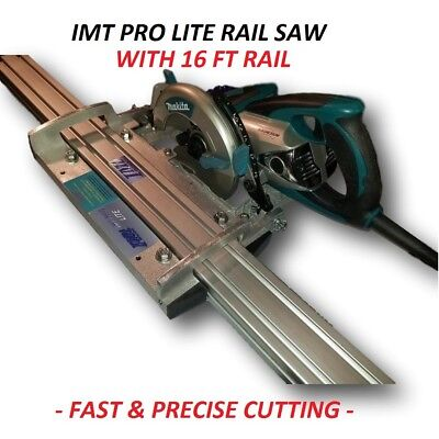 Imt Pro Lite Wet Cutting Makita Motor Rail Track Saw For Granite With 16ft Rail