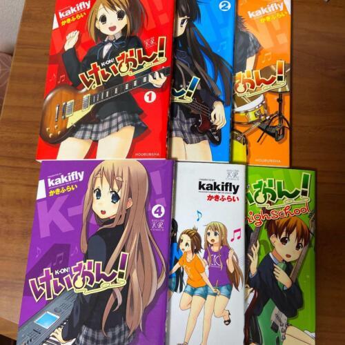 Japanese Language K-ON! Volume 1-4 + Volumes 1-2 Anthology 6 volumes set