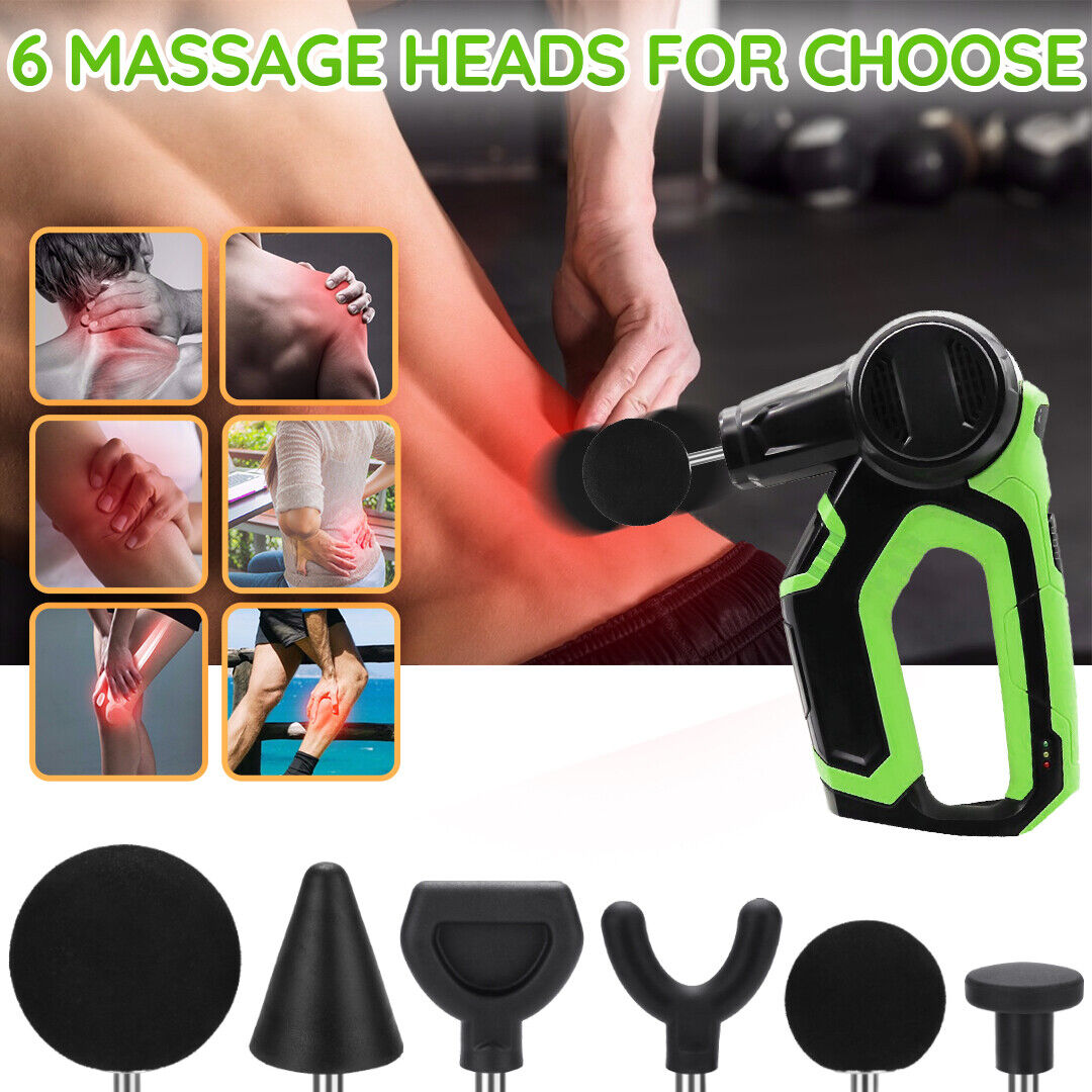 Percussion Massage Tip & Bit 6pcs For Jigsaw Massager Adapte