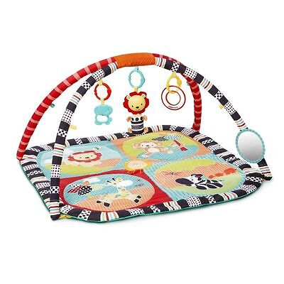 Bright Starts Activity Gym Baby Roaming Safari Play Mat, used for sale  Shipping to Canada