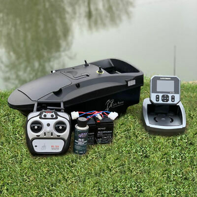 BRAND NEW CARP BAIT BOAT. LAKE REAPER IN BLACK WITH GPS & FISH FINDER