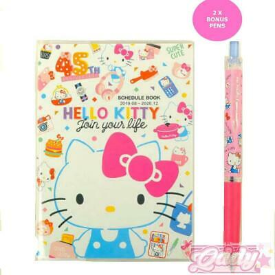 2019 - 2020 Hello Kitty 45th Pocket Planner Schedule Book Agenda Pink 2 Pens