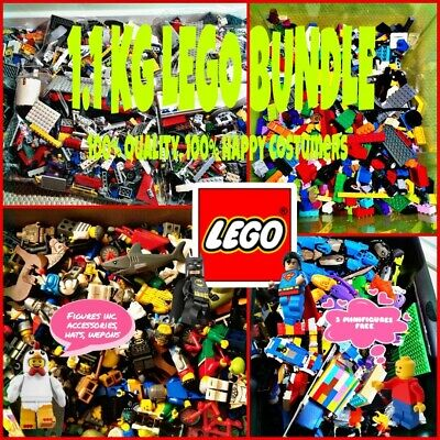 1.1 KG LEGO BUNDLE GENIUNE MIXED BRICKS 1100G + MINIFIGURES + GIFT JOB LOT BULK