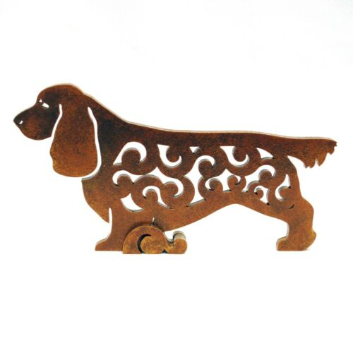 Sussex Spaniel Dog figurine, statuette made of wood