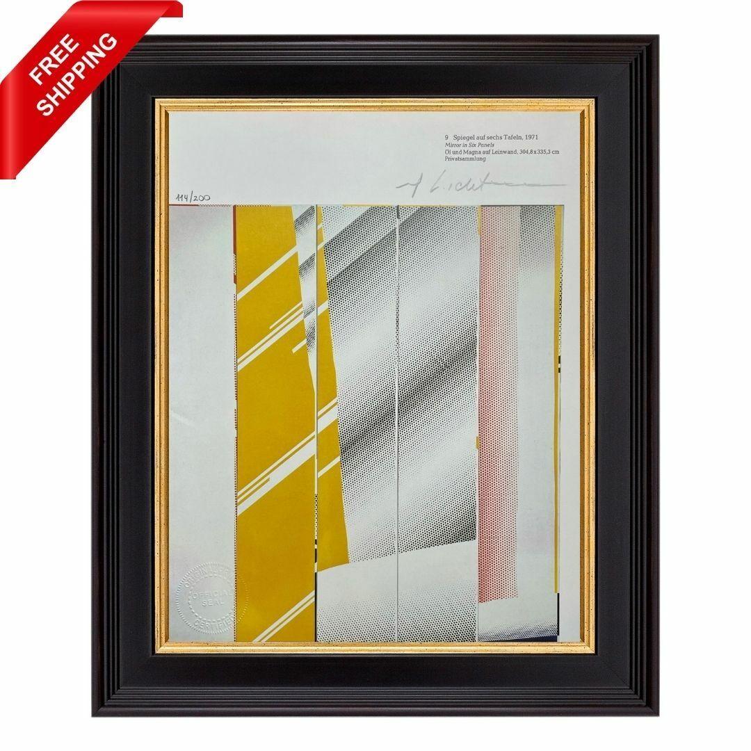 Roy Lichtenstein Original Hand Signed Print With COA - Mirror In Six Panels 1 - $51.51