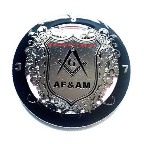 Master Mason AF&AM Car Emblem  Auto Emblem Freemason Blue Lodge Freemasonry Silv