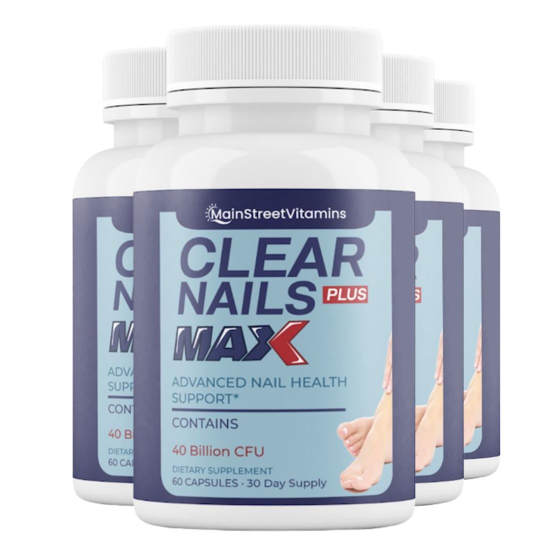 4 Clear Nails Plus Max - 40 Billion CFU - 60 Capsules - 240 Capsules - 4 Bottles