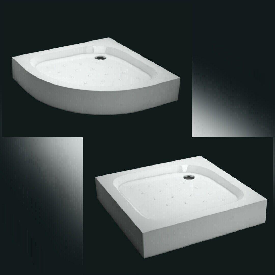 Duschtasse Duschwanne Acryl Brausewanne 14 cm mit Füße Schürze Untergestell Weiß