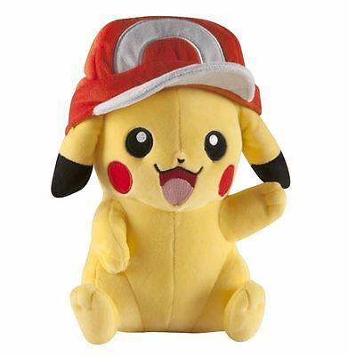 Tomy Pokemon Large Plush Pikachu With Ash Hat Soft Toy