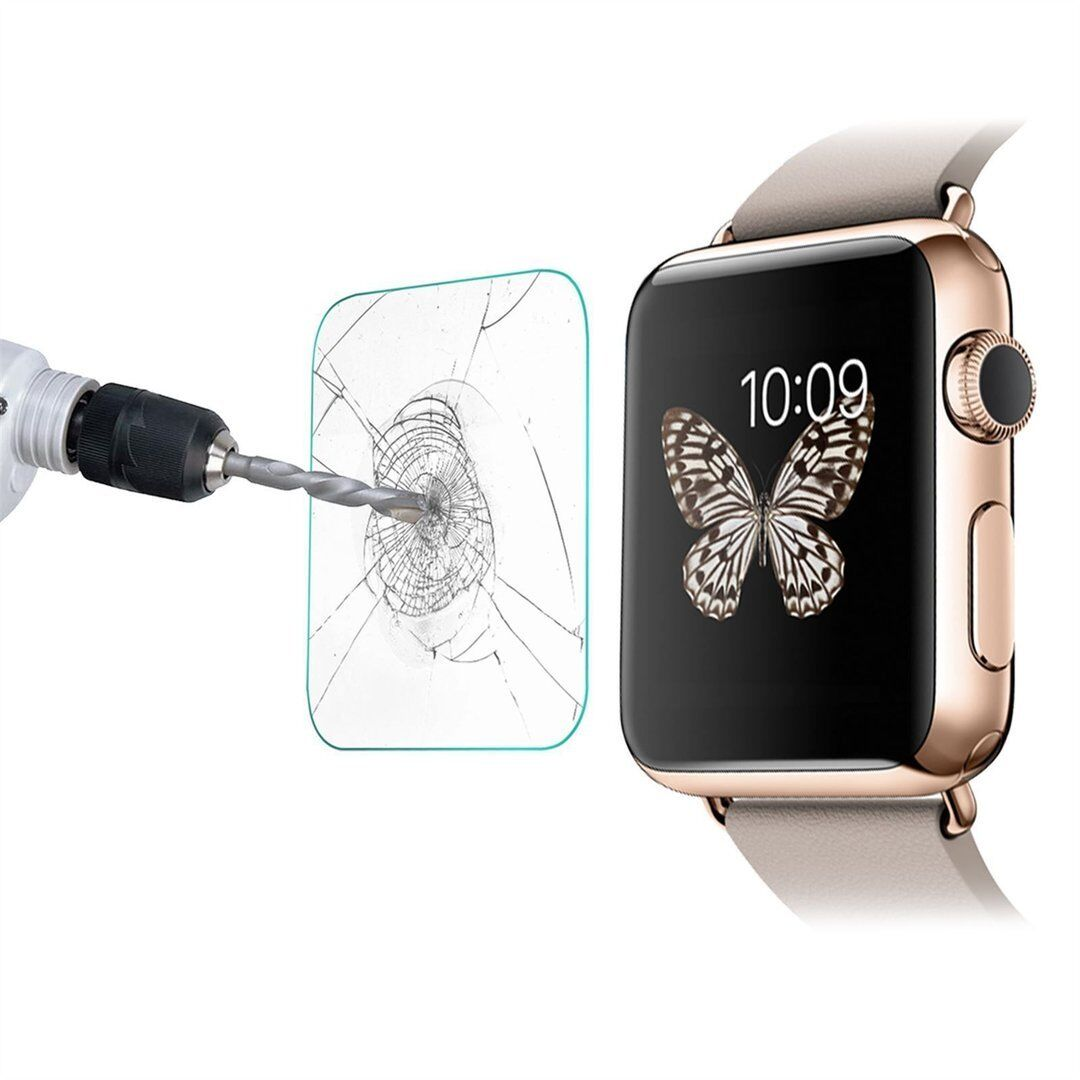 5 For Apple Watch Tempered Glass Screen Protector iWatch