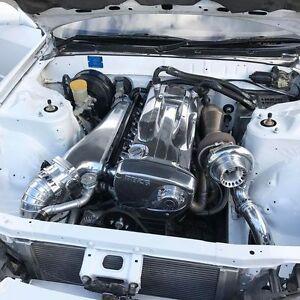 Zerofab Rb26dett billet intake manifold w/fuel rail and 90mm throttle Itb Delete