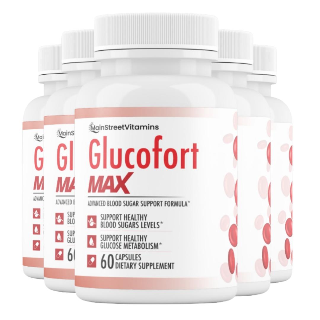 5 Glucofort Max Advanced Formula Blood Sugar Support Formula 300 Caps -5 Bottles
