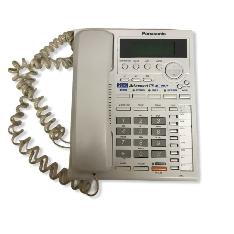 PANASONIC KX-TS3282W WHITE 2-LINE INTEGRATED TELEPHONE SYSTEM