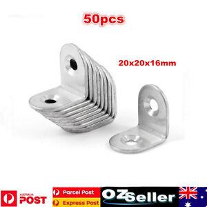 50PCS 20*20MM 304 Stainless Steel L Shape Corner Brace Joint Right Angle Bracket