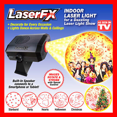 Laser FX Indoor Light Shower Christmas Show Lamp star Projector AS SEEN ON TV