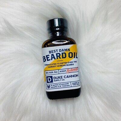Duke Cannon Supply Co. Best Damn Beard Oil Redwood Scent, 3
