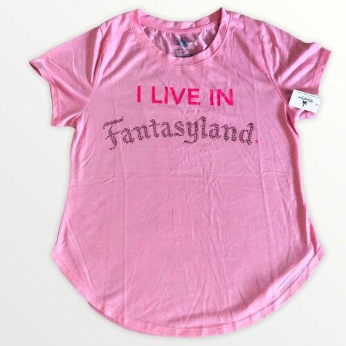NWT!!  - Disney Parks - I Live in Fantasyland -Pink Disney Shirt - FREE SHIP!