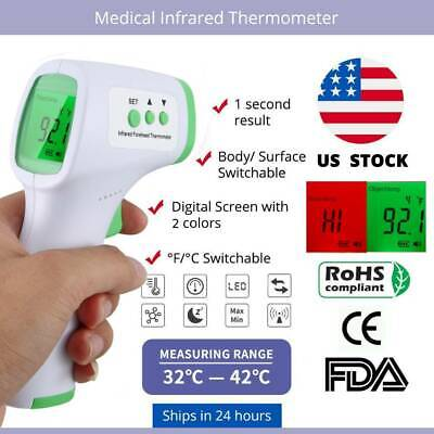 Non-Contact Infrared Digital Body IR Thermometer Termometro Baby Adult Students