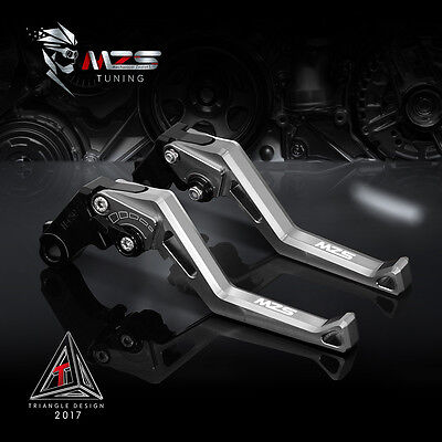 MZS Brake Clutch Levers For Kawasaki NINJA 300R/Z300 13-17 VERSYS 300X 17 Silver