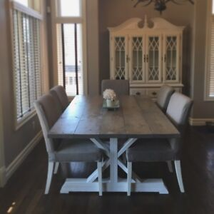 NEW Rustic Trestle Dining Table Delivery Available