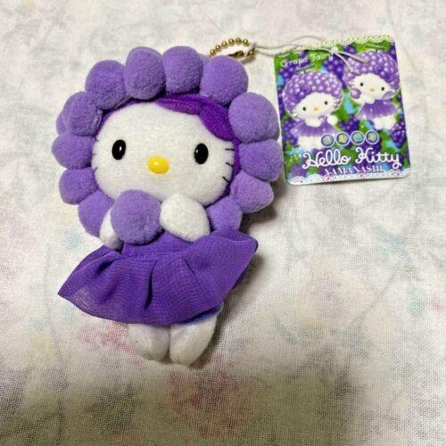Vintage SANRIO Gotochi Local Hello Kitty Keychain Plush Grape