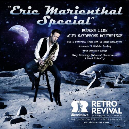 "RETRO-REVIVAL ""ERIC MARIENTHAL SPECIAL"" ALTO SAX MOUTHPIECE #6 .80 18K USED BLEM"